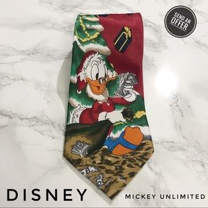 Mickey Unl. Disney Christmas Scrooge McDuck Tie